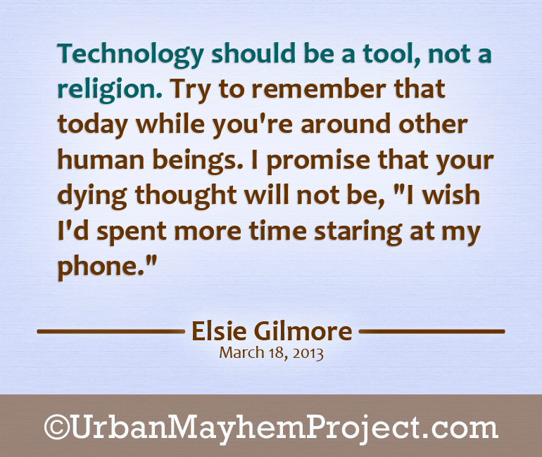 Technology should be a tool