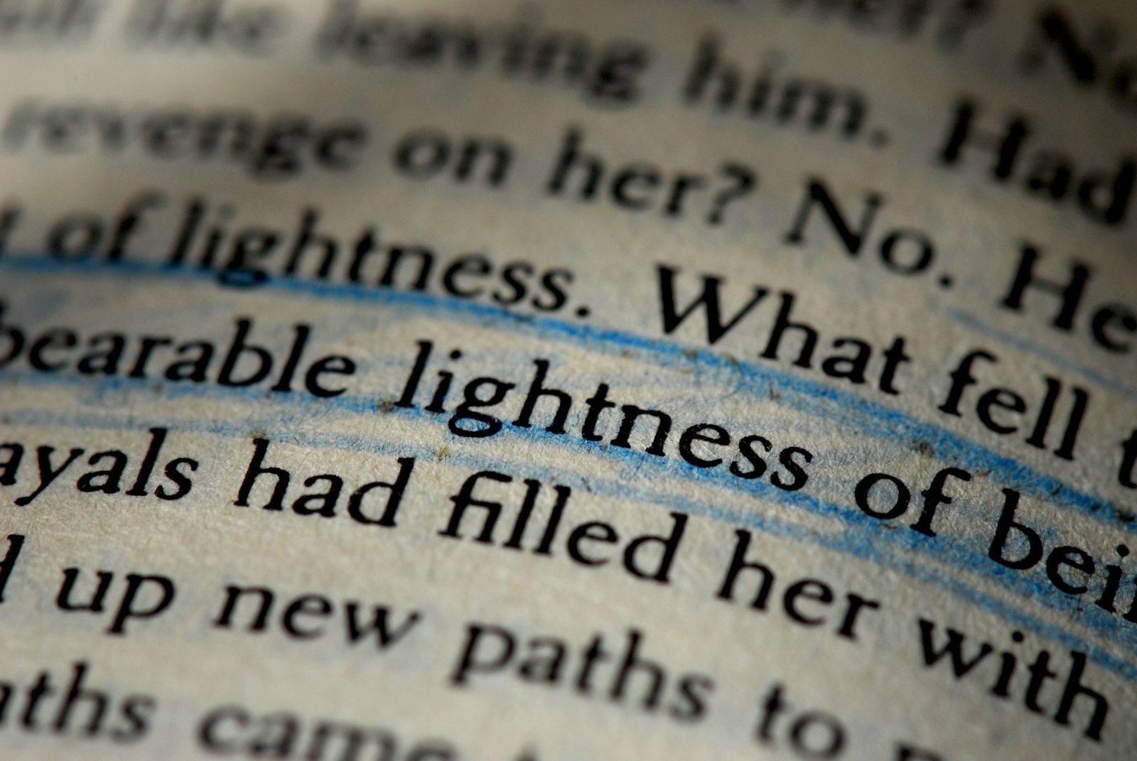 the unbearable lightness of being essay Free college essay the unbearable lightness of being the unheard voice of commitment what the reader understands of the infidelity of milan kundera's characters in.