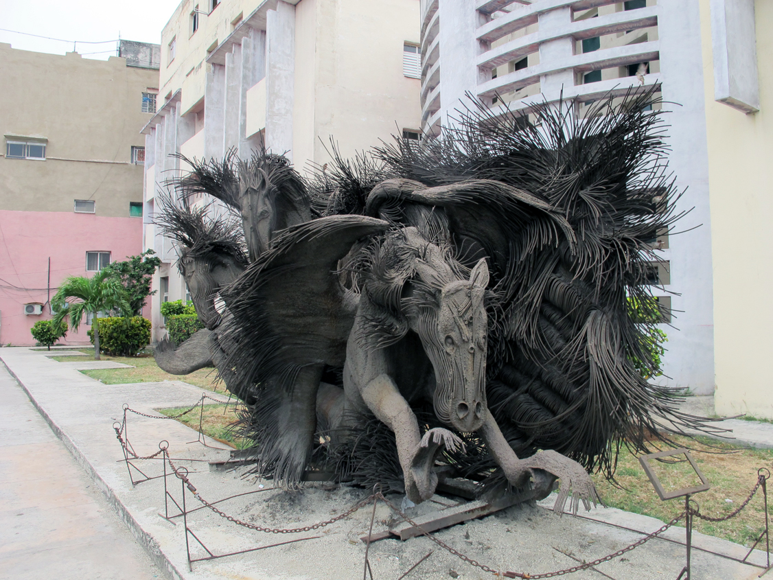 Scary sculpture in Havana