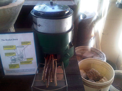 Rocket stove - survival stove