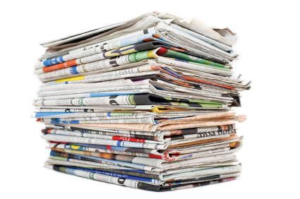 Newspapers for recycling
