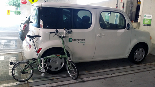 Brompton with CarShare