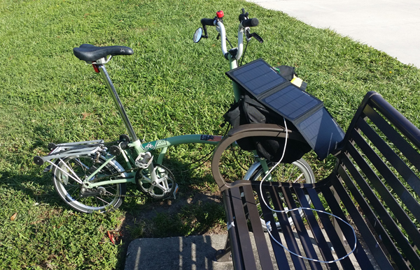 Brompton and phone charger