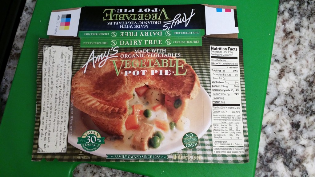 Amy's Organic Vegetable Pot Pie