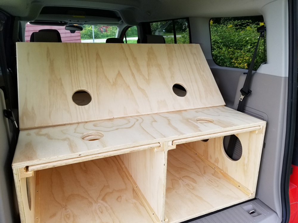 Minivan conversion for Ford Transit Connect